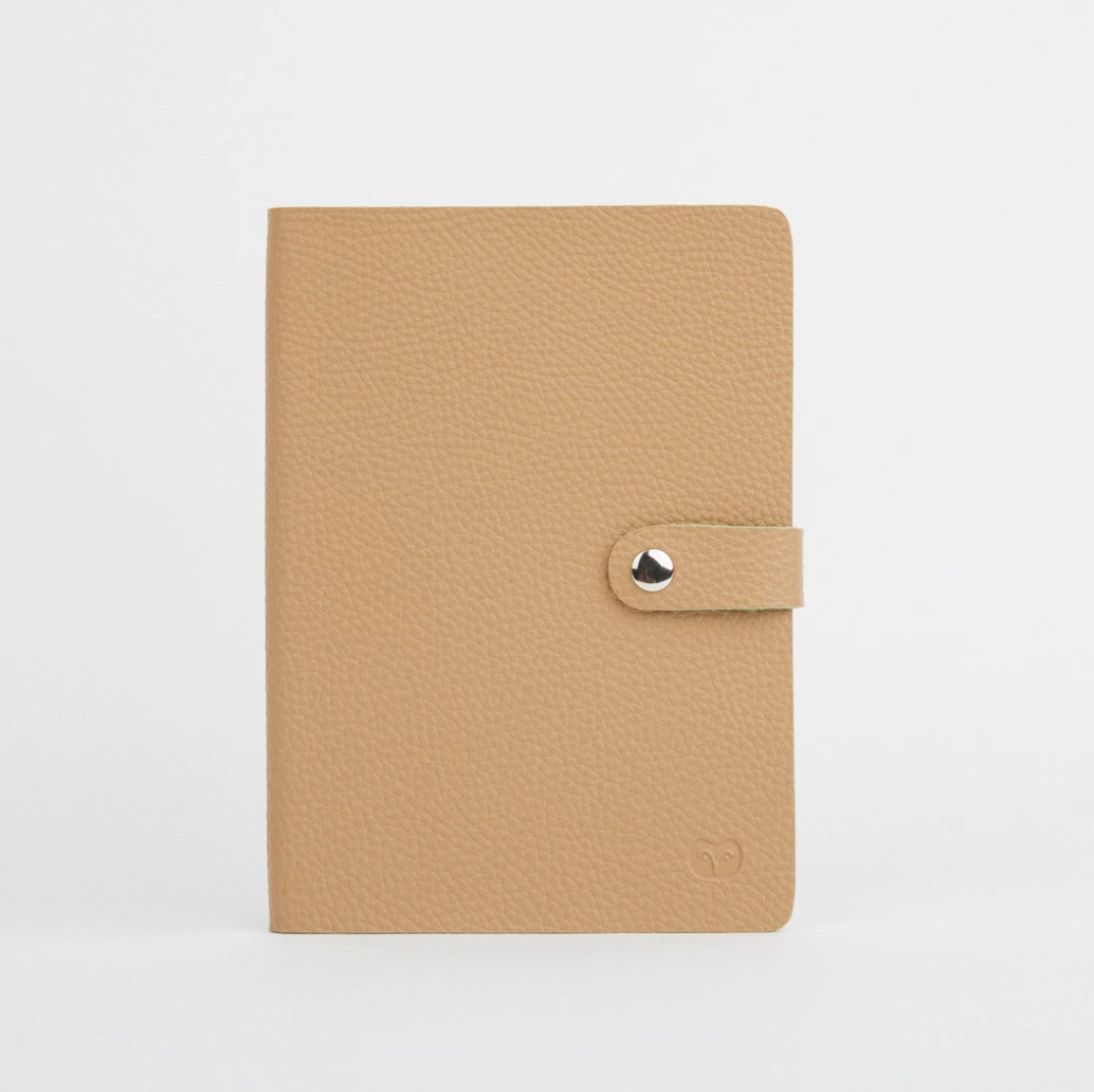 NICOBAR NOTEBOOK - SANDY BEIGE/GREEN