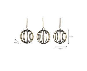 CROMWELL BAUBLES - SET OF THREE