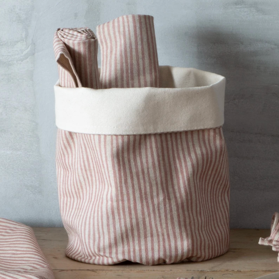 PINK STRIPE POT BAG