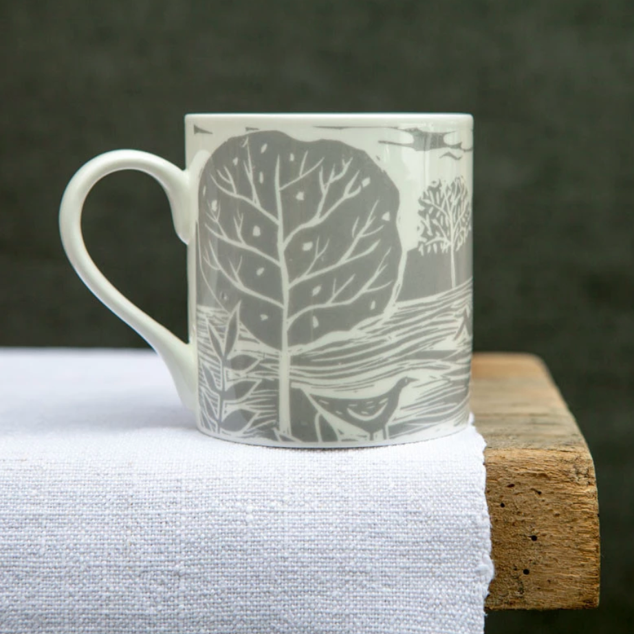 OWL AND FOX - LANDSCAPE MUG