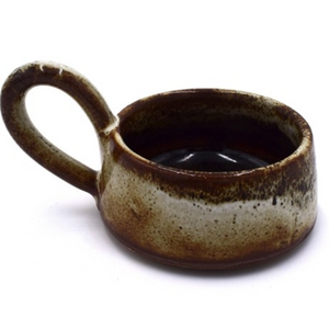 STONEWARE TEA LIGHT CUP - TAWNY