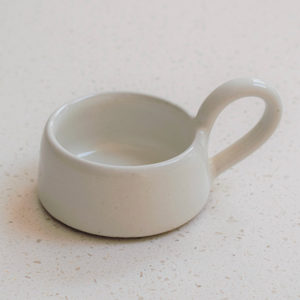 STONEWARE TEA LIGHT CUP - MILK WHITE