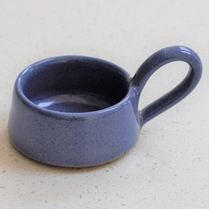 STONEWARE TEA LIGHT CUP - DARK BLUE