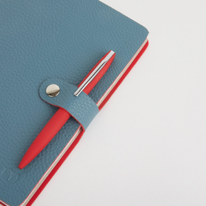 NICOBAR NOTEBOOK & PEN SET - TEAL/RED