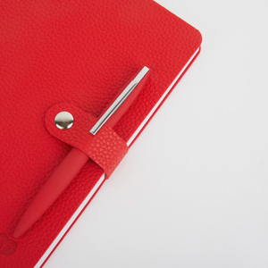 NICOBAR NOTEBOOK & PEN SET - RED/RED