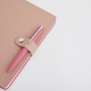 NICOBAR NOTEBOOK & PEN SET - PINK/PINK