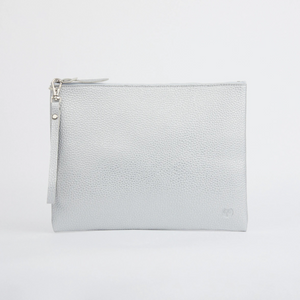 PERUVIAN CLUTCH WITH HANDLE - SILVER