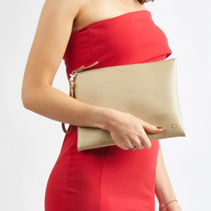 PERUVIAN CLUTCH WITH HANDLE - RED