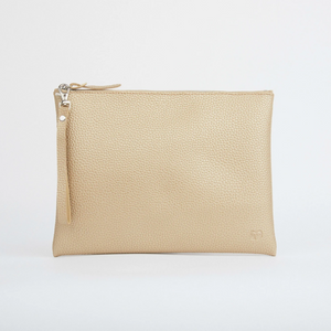 PERUVIAN CLUTCH WITH HANDLE - GOLD