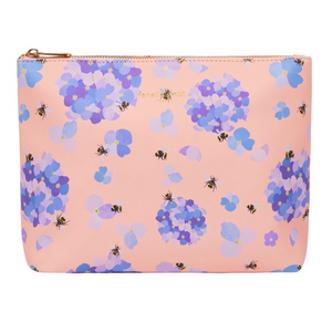 BEE & HYDRANGEA VEGAN LEATHER WASHBAG