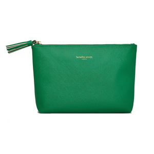 GREEN VEGAN LEATHER WASHBAG