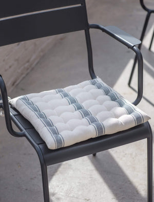 SEAT PAD - CHARCOAL STRIPE