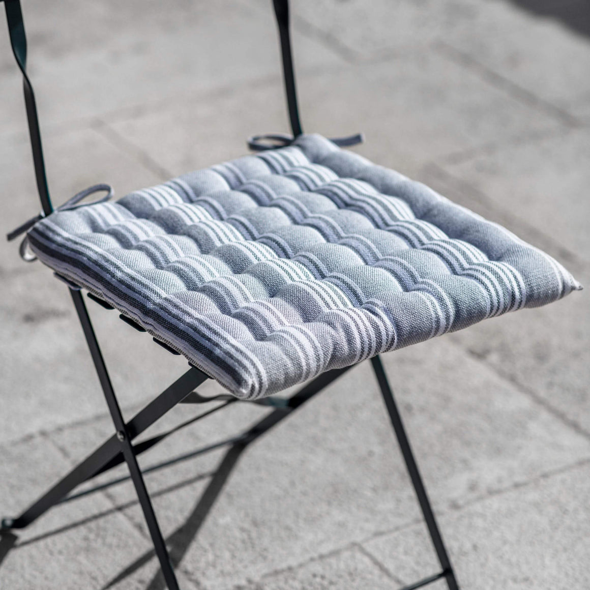 SEAT PAD - EARL GREY STRIPE