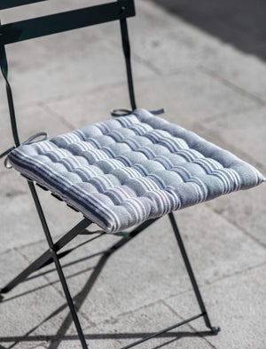 SEAT PAD - EARL GREY STRIPE *** PRE ORDER - EARLY SEPT ****