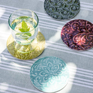 SET OF 4 FISKARDO COASTERS - ALUMINUM