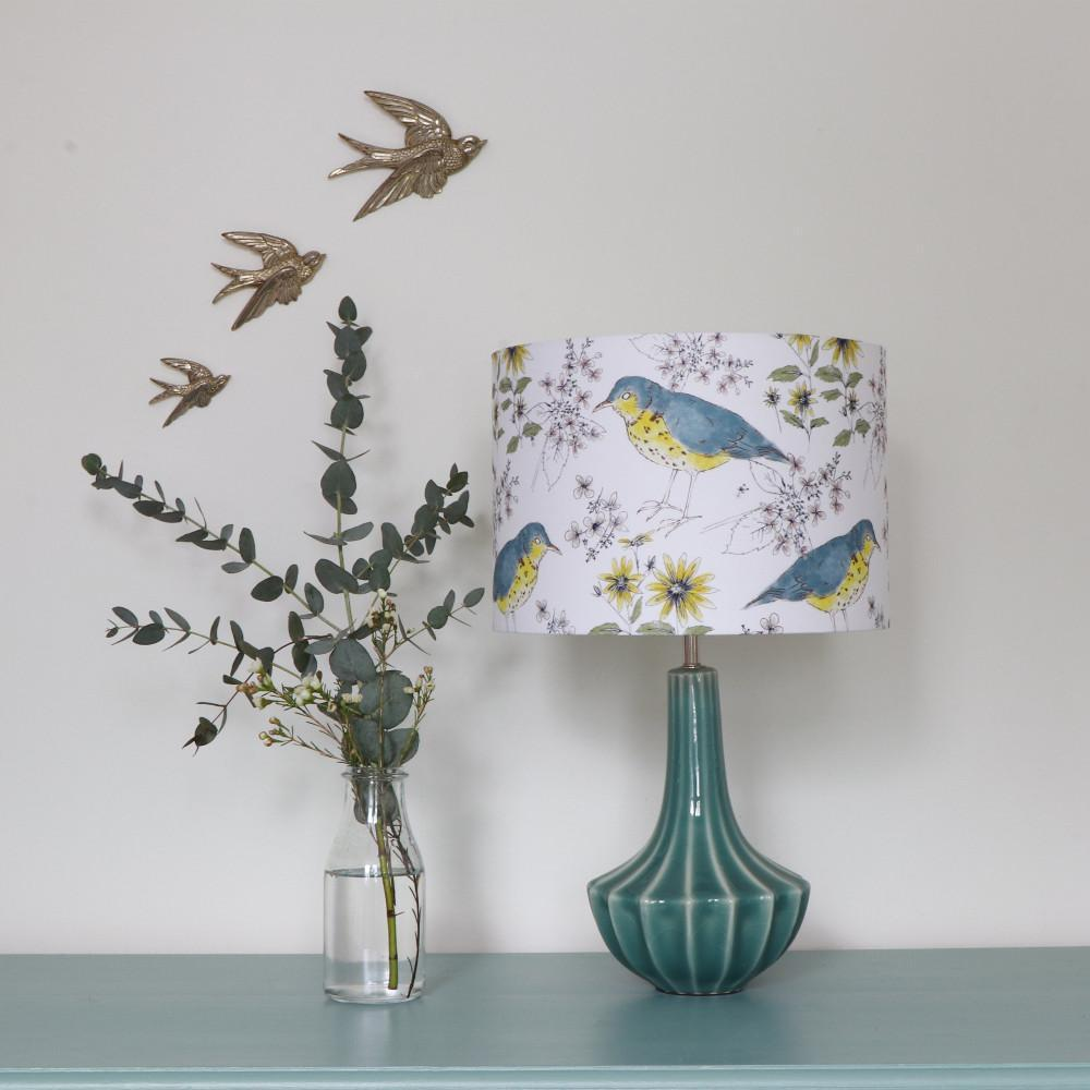 SONGBIRD AND FLORA LAMPSHADE