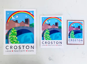 CROSTON RAINBOW - A4 UNFRAMED