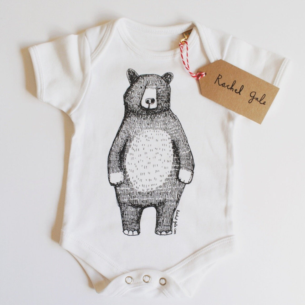 MR BEAR - BABY GROW - WHITE