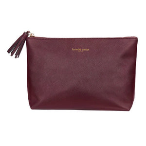 BURGUNDY VEGAN LEATHER WASHBAG