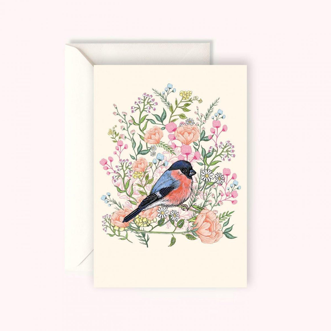 BULLFINCH BIRD CARD
