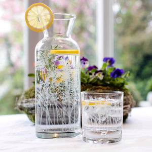 Floral Tumbler Glass