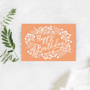 HAPPY BIRTHDAY CORAL CARD