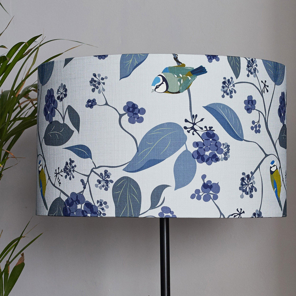SPRING IVY - BLUE LAMPSHADE