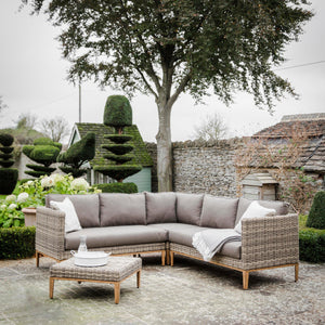 WALDERTON CORNER SOFA SET - ALL WEATHER RATTAN