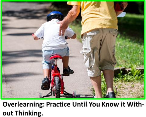 Overlearning: Practice Until You Know it Without Thinking.