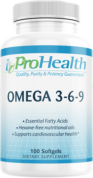 Omega 3 6 9 100 Softgels By Prohealth Prohealth Com