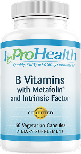 B Vitamins with Metafolin® and Intrinsic Factor