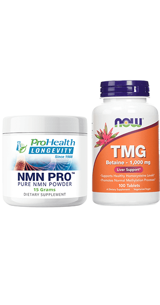 NMN Pro Powder (15 grams) + TMG (Trimethylglycine) (1,000 mg, 100 tablets)