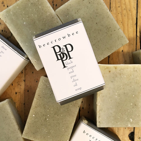 black pepper  and pine soap