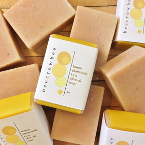 lemon chamomile tea soap