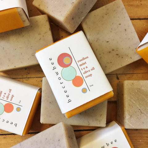 rooibos mint tea soap