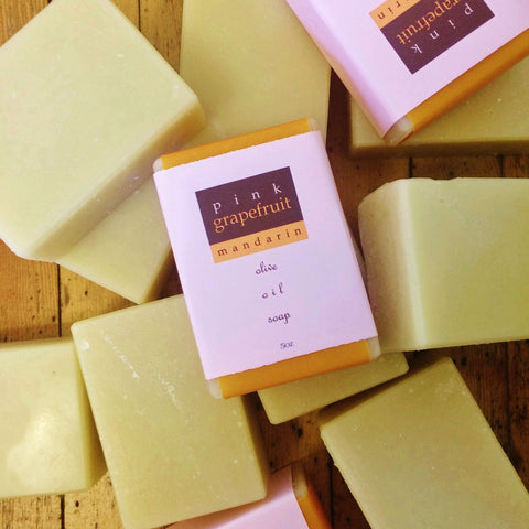 pink grapefruit mandarin soap