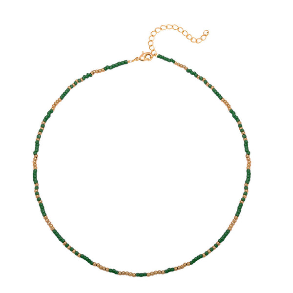 Beaded Necklace Green
