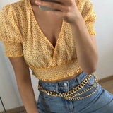 Yellow Cropped Top
