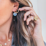 Rhinestone Blue Earrings