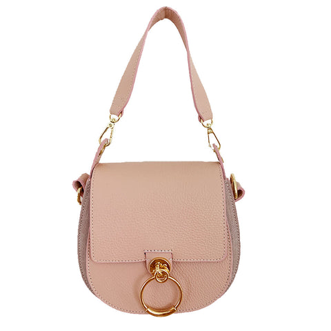 Pink Buckle Leather Bag