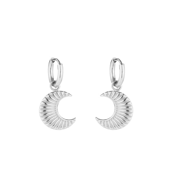 Moon Earrings Silver