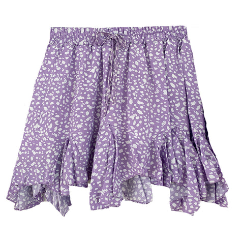 Flowy Viscose Purple Skirt