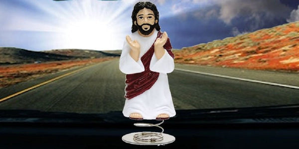 Dashboard Jesus Bobble Toy