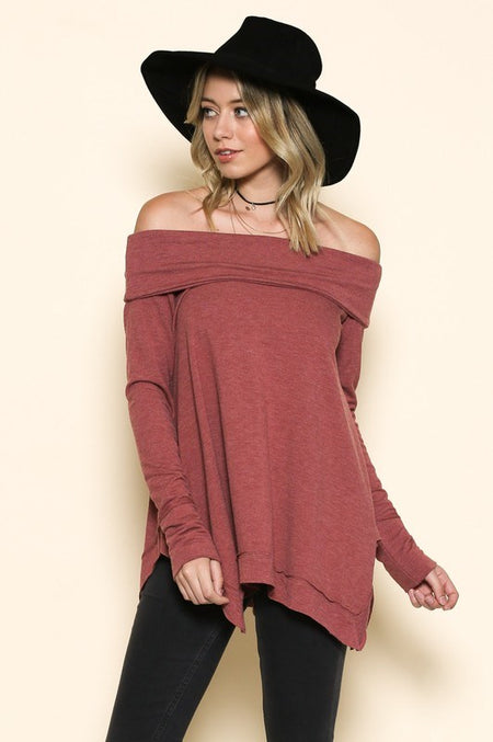 Cinnamon Lace-Up Sweater