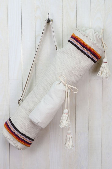 Embroidered Yoga Mat Bag