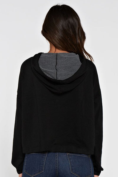 Cropped Terry Hoodie