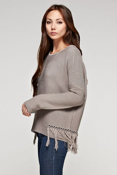 Fringed Knit Pullover