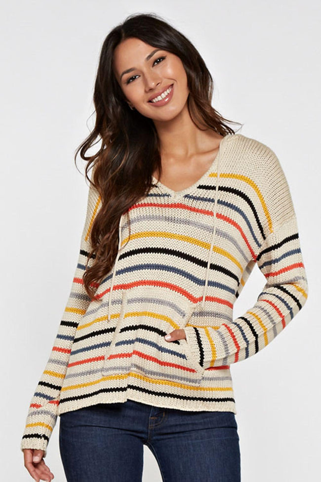Striped Hoodie Sweater