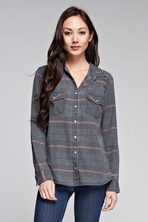 Plaid Shirt Grey