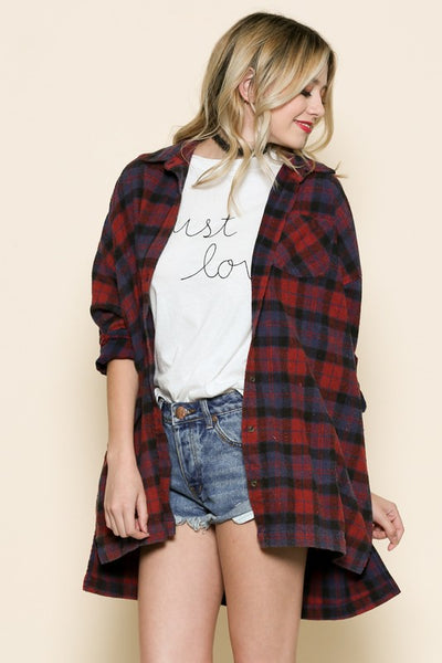 Plaid Oversized Shirt